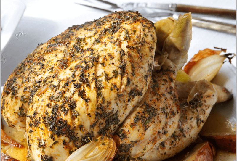 Paprika roast chicken recipe by UK Dietitian Azmina Govindji