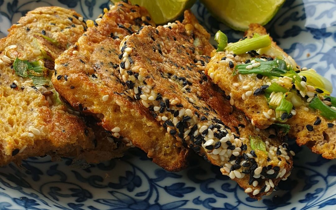 Indian-style eggy bread with seeds and turmeric